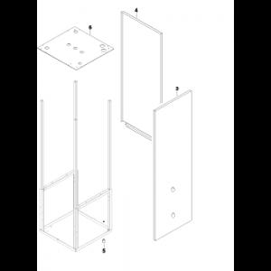 003A. Höger panelplåt till IVT och Bosch Värmepumpar