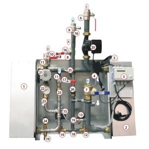 003. Reglercentral Siemens RVD144, exkl. bottenplatta