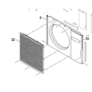 017C. Fläktgaller Bosch Compress 5000/7000 och PHR-N