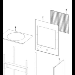 007A. Bakplåt till Optima och Bosch EHP värmepumpar