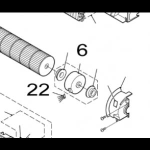 022A. Kabel till fläktmotor till Nordic Inverter FRN/GRN