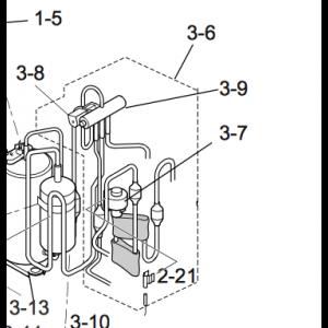 036B. 4-vägsventil komplett paket