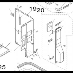 019B. Plåt H till Nordic Inverter och Bosch Compress utedelar