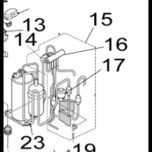 015B. 4-vägs kit Utedel Nordic Inverter 12 FRN