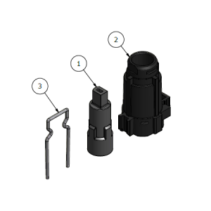 Adaptersats / Distans till shuntmotor Nibe