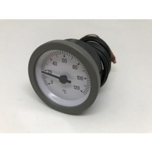 040. Termometer 0-120 Gr.grå