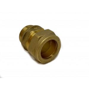 Rak koppling 22xR20 klämring x utvändig gänga 2-pack
