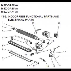 Övre horisontell luftriktare / E02685040 VANE UPPER MSH-GAVB-E1
