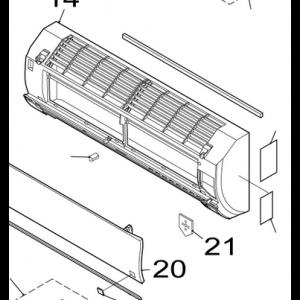 021A. Täcklock till innerdelskåpa