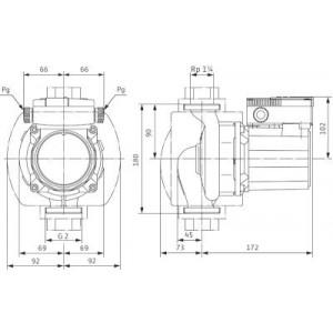 031C. Cirkulationspump Wilo TOP-S 30/10 1 Fas Molex