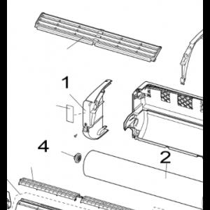 001A. Front innerdel vänster till Nordic Inverter LRN/PRN