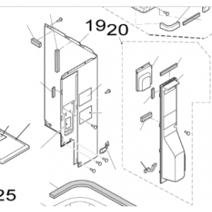 Plåt H till Nordic Inverter och Bosch Compress utedelar