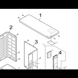 Top panel of Nordic Inverter FRN / GRN / KHRN / JHRN / PHRN