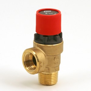 "Safety valve 1/2"" 4 bars red"