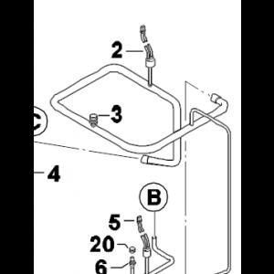 020C. Scrader valve u tube 922Bx3