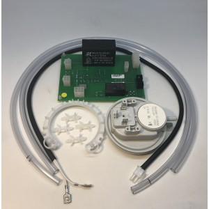 Conversion kit fan card with a pressure switch