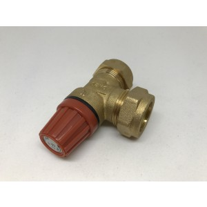 052. Safety valve 2.5 bar, heating system (2008-)