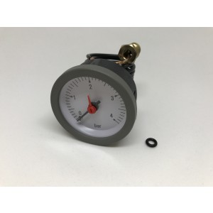 042. Boiler pressure gauge, 0-4bar Grey