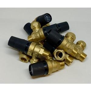 Saftety valve 15xR15 10bar 10pcs