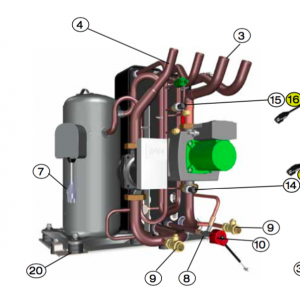 Cable Compressor 4G2.5 L = 220