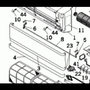 Frontpanelenhet / Panel assembly RKY435A004F