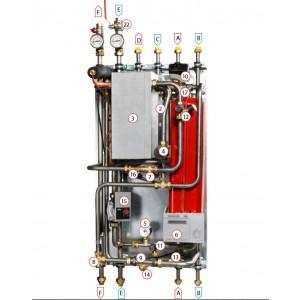 Värmeväxlare Cb 30-60 H, isolerad