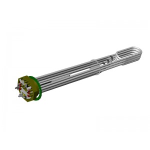 Immersion heater 6-9 kW 230 / 400V 2""