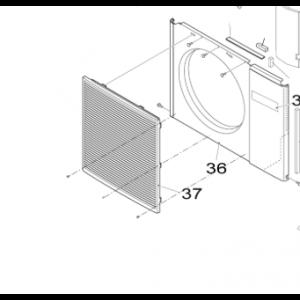 037B. Fan guard Nordic Inverter outdoor unit