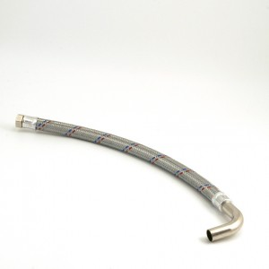 Flexible hose 3/4 90 degree bend Length = 640 mm