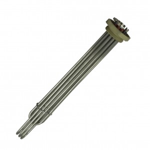 "Immersion heater 3 + 3 kw 2"" threaded 400V 7904-"