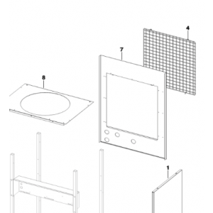 007A. Baking tray Optima and Bosch EHP pumps