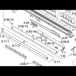 Upper air deflectors to Nordic Inverter 09 DR N