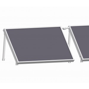 Solar collector flat roof Lie Mont