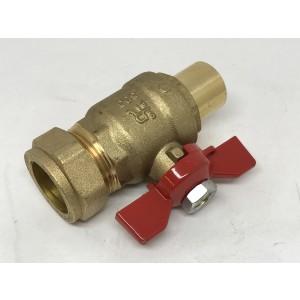071. Ball valve M Knob