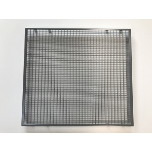 Insulation Sheet metal grille, gray