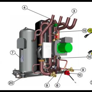 Cable Compressor 4G2.5 L = 230
