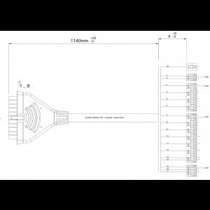 Cables sensor card, PCB