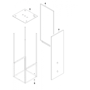 Høyre panelplate for IVT og Bosch varmepumper