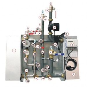 003. Kontrollsenter Siemens RVD144, uten bunnplate