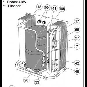 105. Kjøleseksjon 12kw (10) F-xx10 / 15