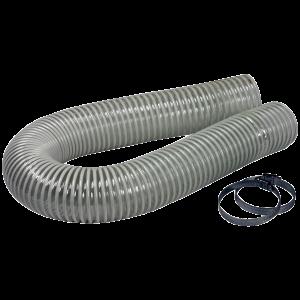 Slange ¤70 1M komplett med klemmer
