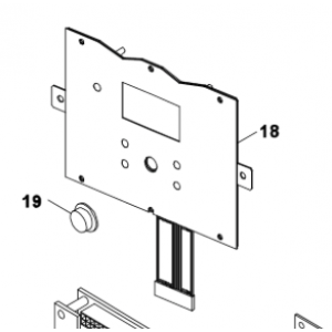 018B. Frontdisplay for Bosch Compress 3500/5000/6000