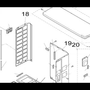 018B. Venstre sidepanel for utendørsenhet Nordic Inverter / Bosch Compress 5000