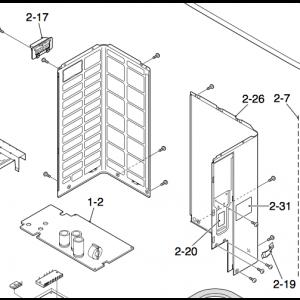 Plate høyre utendørsenhet Nordic Inverter 09DR-N