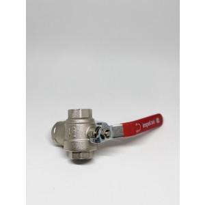 Kuleventil DN20 med innebygd magnetittfilter