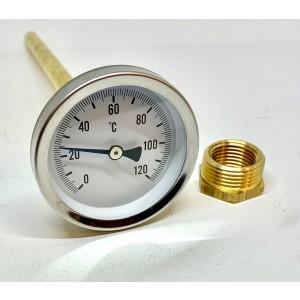 """Termometer 0-120 ° C 3/4 """"CTC"""