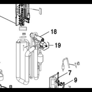018C. 4-veis ventil for Nordic Inverter & Bosch Compress 5000/7000
