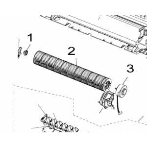 002B. Viftetrommel for Nordic Inverter og Bosch Compress