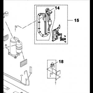 018C. Solenoid ekspansjonsventil for Bosch Compress 5000/7000 & NI PHR-N