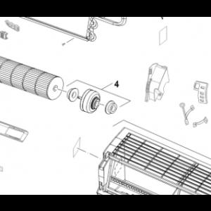 004B. Viftemotor Innendørs Bosch Compress 5000 AA